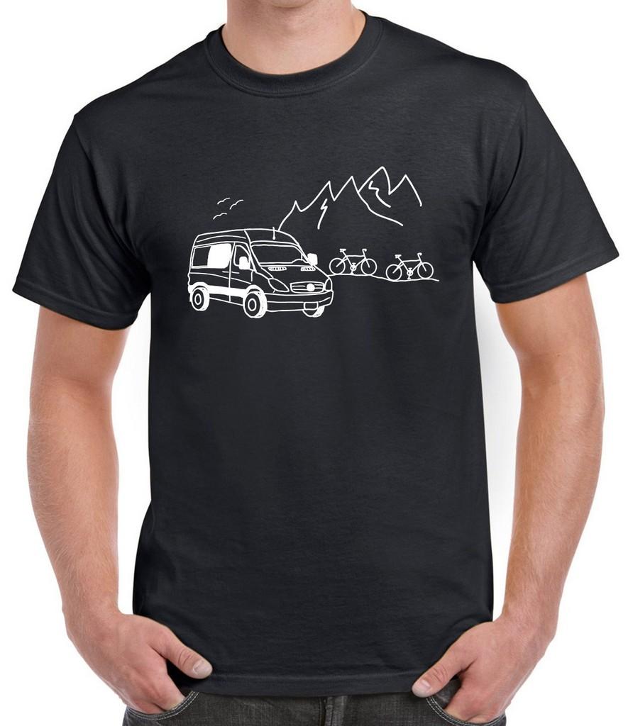 man tee-shirt nature van conversion