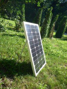 van conversion electricité solaire panneau